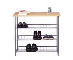 Schuhregal in Grau Buche modern