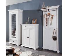 Garderobenmöbel Set aus Fichte Massivholz Landhaus Design (3-teilig)