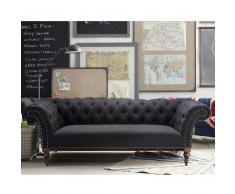 Sofa im Retro Style Anthrazit