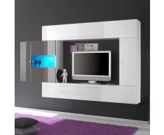 Wohnwand weiß hochglanz modern  Wohnwand » günstige Wohnwände bei Livingo kaufen