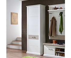Garderobenschrank in Weiß Taupe modern