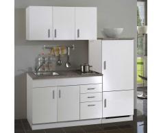Büroküche komplett in Weiß Kühlschrank (4-teilig)