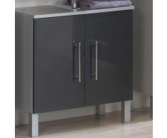 Waschbeckenunterschrank in Schwarz-Grau Hochglanz