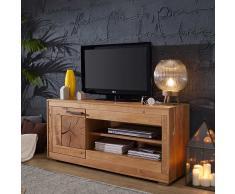 TV Schrank aus Wildeiche Massivholz 130 cm breit
