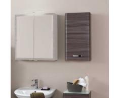Badezimmer-Hängeschrank in dunkle Eiche modern