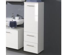 Badezimmer Midischrank in Weiß Hochglanz