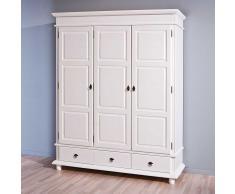 Massiv Schlafzimmerschrank in Weiß Kiefer