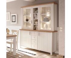 Esszimmer Buffet im skandinavischen Landhausstil Weiß und Eiche