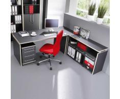 Büromöbel Set in Grau Rosales Dekor (4-teilig)