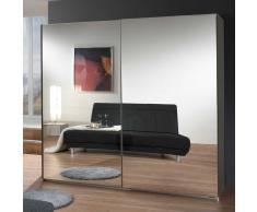 Schwebetürenschrank mit Spiegelfront 250 breit