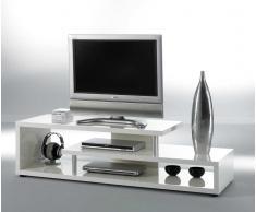 TV Rack in Weiß 150 cm breit