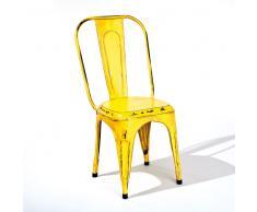 Stuhl Set in Gelb antik Metall (4er Set)