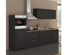 Küchenblock mit E-Geräten Grau Eiche Sonoma (10-teilig)