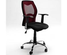 Schreibtischstuhl in Rot-Schwarz Rot-Schwarz