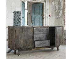 Factory Sideboard aus Mangobaum Massivholz Metall