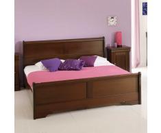 Rustikales Bett in Walnussfarben 160x200 cm
