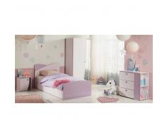 Komplett Kinderzimmer für Mädchen Rosa Eiskristall Look (4-teilig)