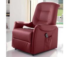 Relaxsessel in Rot mit Aufstehhilfe