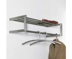 Hängende Garderobe aus Edelstahl 80 cm breit