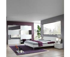 Schlafzimmer Set mit Schwebetürenschrank Schiebetürenschrank (4-teilig)