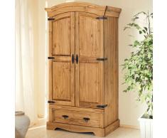 Garderobenschrank aus Kiefer Massivholz