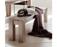Sitzbank aus Eiche Massivholz ohne Rückenlehne