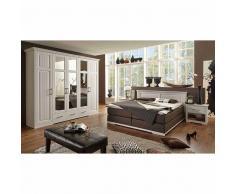 Schlafzimmereinrichtung im Landhausstil mit Boxspringbett (4-teilig)