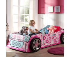 Kinder Autobett für Mädchen Rosa Pink