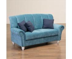 Wohnzimmer Sofa in Blau Landhausstil
