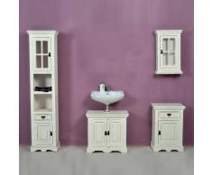 Badezimmer Komplettset aus Mangobaum Massivholz Shabby Chic (4-teilig)