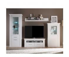 Wohnzimmer Anbauwand in Weiß skandinavischer Landhausstil (4-teilig)