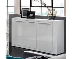 Hochglanz Sideboard in Weiß 140 cm breit