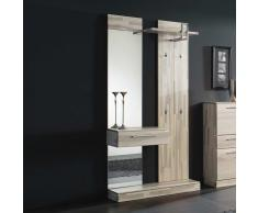 Garderobenpaneel aus Esche Massivholz modern