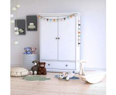Kinderzimmer Kleiderschrank in Weiß 2 Türen