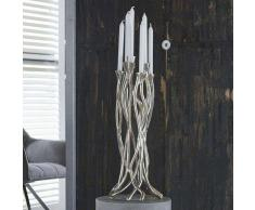 Kerzenhalter aus Aluminium Silber