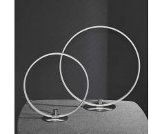 Design Tischleuchte in Silber rund