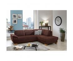 Couch in Braun Schlaffunktion