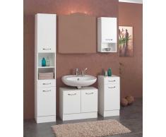 Badezimmer Komplettset ohne Spiegel Weiß (4-teilig)