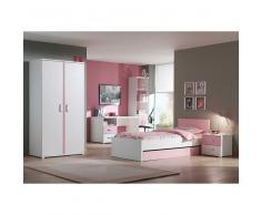 Kinderzimmer  für Mädchen Weiß Rosa (6-teilig)