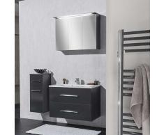 Badezimmer Set in Anthrazit mit Waschtisch (3-teilig)