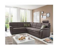 Couch in Grau Braun Bettfunktion