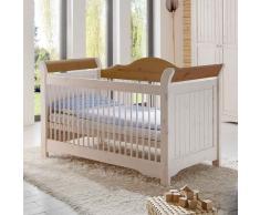 Babybettchen in Weiß Kiefer massiv