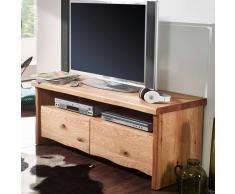 TV Lowboard mit Baumkante Wildeiche Massivholz