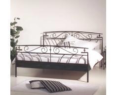 Doppelbett aus Metall Schwarz