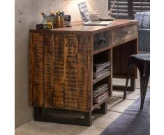 Loft Schreibtisch aus Mangobaum Recyclingholz 120 cm