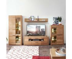 Wohnwand aus Wildeiche Bianco modern (4-teilig)