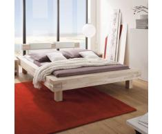 Bett aus Balken Akazie Massivholz