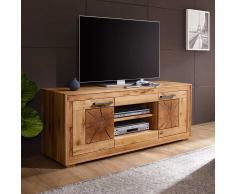 TV Board aus Wildeiche Massivholz 150 cm breit