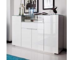Hochglanz Sideboard in Weiß Glas