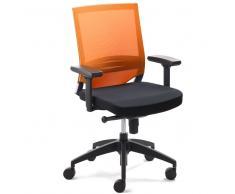 Bürostuhl in Schwarz Orange